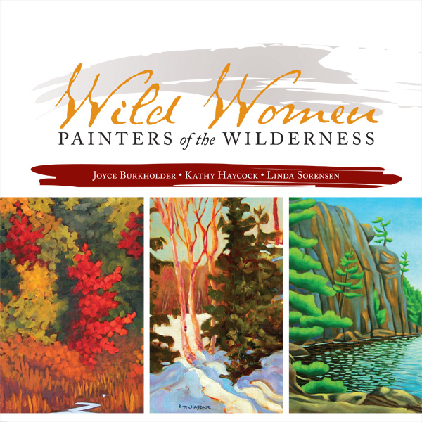 Cover of Wild Women showing a painting by each of the contributors.